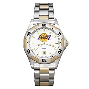 NBA Los Angeles Lakers Mens All-Pro Two-Tone Watch by Logo Art