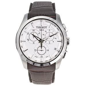 Tissot Men's Couturier Leather-strap Chronograph Watch T0356171603100