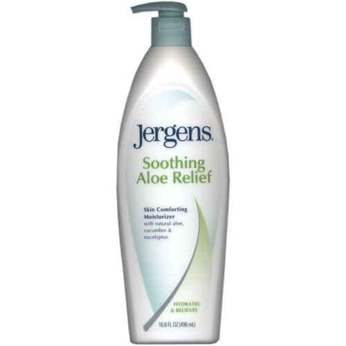 Jergens Soothing Aloe Relief Skin Comforting Moisturizer, with Natural Aloe, Cucumber & Eucalyptus, 16.8 oz.