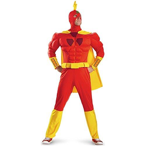[GSG Radioactive Man Costume Adult The Simpsons Halloween Fancy Dress] (Radioactive Zombie Costume)