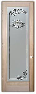 Pantry door sans soucie etched glass interior door doug for 16 x 80 interior door