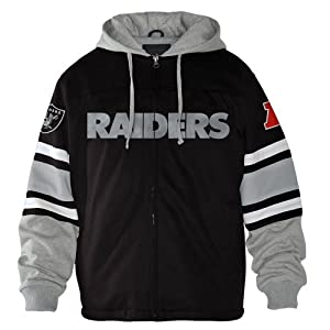 Oakland Raiders NFL G-III 1 on 1 Jersey Hooded Premium Sweatshirt by G-III Sports