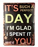 Perfect Day Tin Sign Retro Vintage Metal Plaque Pub Bar Wall Decor