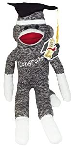Sock Monkey 20 inch Congrats Grad Plush -1 count at 'Sock Monkeys'