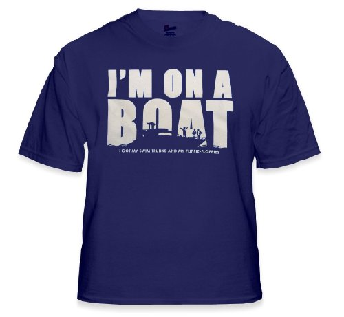 I'm On a Boat (Got My Swim Trunks & My Flip-Floppies) T-Shirt :: T-Pain SNL Spoof #9/1128