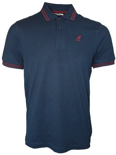 New Mens Navy Kangol Joshua 656 Designer Branded Polo Neck T-Shirt Top Size S