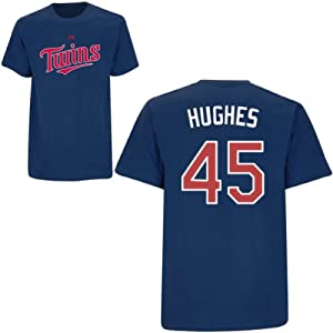 Phil Hughes Minnesota Twins Navy Player T-Shirt by Majestic by Majestic