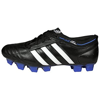 adidas Women's adiPURE II TRX Firm Ground Soccer Cleat,Black/White/Cobalt,10 M