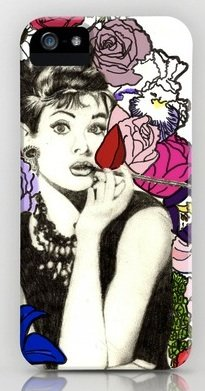 並行輸入品オードリー・ヘップバーン Audrey Hepburn society6 iphone 5/5sケース (Audrey8)