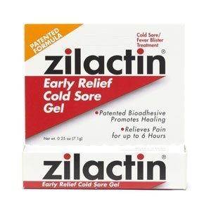 Zilactin Cold Sore Relief Gel .25 oz (7.1 g)