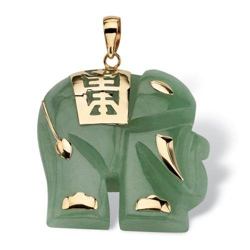 Genuine Green Jade 14k Yellow Gold