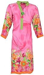 JOLLY Women's Cotton Casual Kurtas (J702(S)-16, Pink, L)