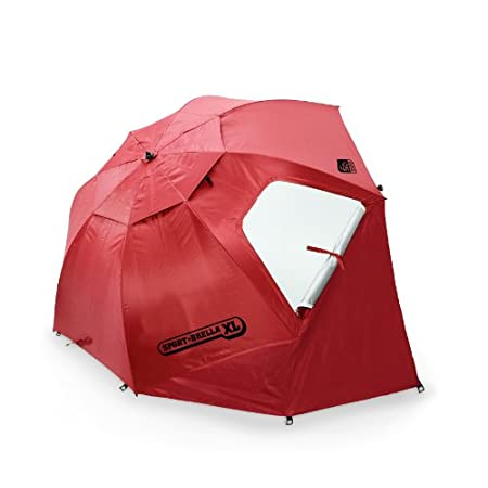 A beach umbrella, sun tent, rain shelter and more. On the sidelines or at the beach, the Sport-Brella gives you instant portable protection from the sun, rain, and wind with UPF 50+ quick shade protection. It sets up in just three seconds and fits th...