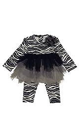 Kate Mack Baby-Girl's Infant Wild Streak Tunic and Legging, Navy