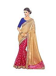 Pehnava Net Brasso Skirt With Cotton Silk Pallu Saree