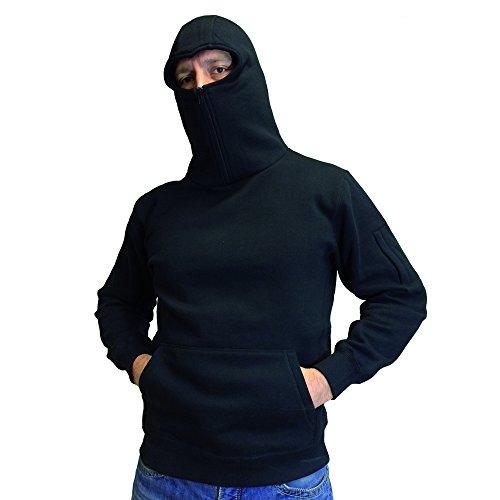 No Face No Name Ninja Zip Hoody Warrior, Farbe:schwarz;Größe:L