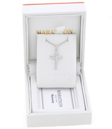 Sterling Silver Small Inri Cross Necklace