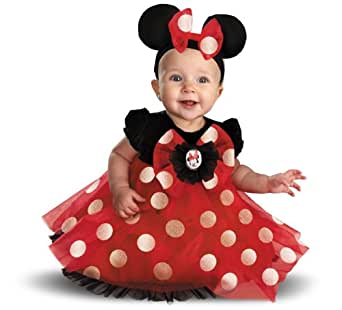 Disguise Baby-girls My First Minnie Red Minnie Costume
