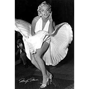 Marilyn Monroe Movie (White Dress, Seven Year Itch) Poster Print
