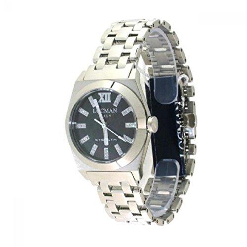 Reloj Locman Stealth 020400mkdfnkbr0al cuarzo (batería) acero quandrante nácar correa acero