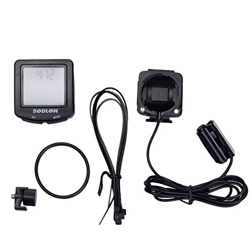 Super buy New LCD BackLight Cycle Bicycle Bike Computer Spee