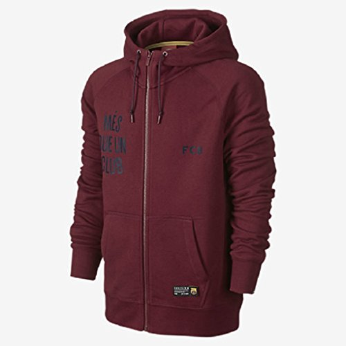 Nike Aw77 FCB Barcelona Cvrt Fz Hoody (Maroon) Medium спортивная куртка nike aw77 gf numbers fz hoo 546897 063