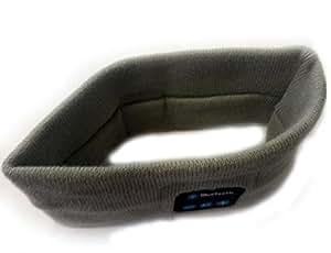Z&S Bluetooth Music Soft Warm Beanie Hat Cap with Stereo Headphone Headset Speaker Wireless Mic Hands-free for Men Women Gift (Headband-Gray)