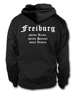 shirtloge - FREIBURG - Meine Liebe, meine Heimat, mein Verein - Fan Kapuzenpullover - Größe S - 3XL