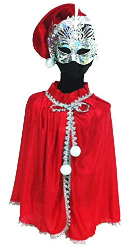 Ace Kids Boys Girls Father Christmas Costume Santa Claus Cape
