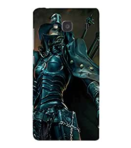 printtech Girl Warrior Sword Back Case Cover for Xiaomi Redmi 2S::Xiaomi Redmi 2::Xiaomi Redmi 2 Prime