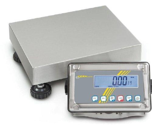 Balance plate-forme avec protection contre la poussière et les projections d'eau IP65 [Kern SFE 15K5IPM] Precision up to 5 g, Weighing range max. 5 g