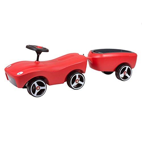 Jouet voiture avec remorque trotteur Brumee Sportee en rouge