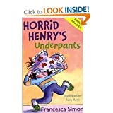 Francesca Simon Horrid Henry: Early Reader 4 book collection pack: Horrid Henrys Holiday / Horrid Henrys Underpants / Don't Be Horrid Henry / Horrid Henrys Birthday Party rrp £19.96