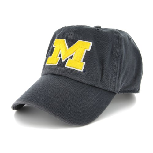 NCAA 47 Brand Michigan Wolverines Clean up (Navy, One Size Fits)