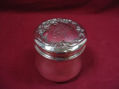 "Dresden By Whiting Sterling Silver Tea Caddy 3 3/4"" Tall X 3 3/4"" Diameter"