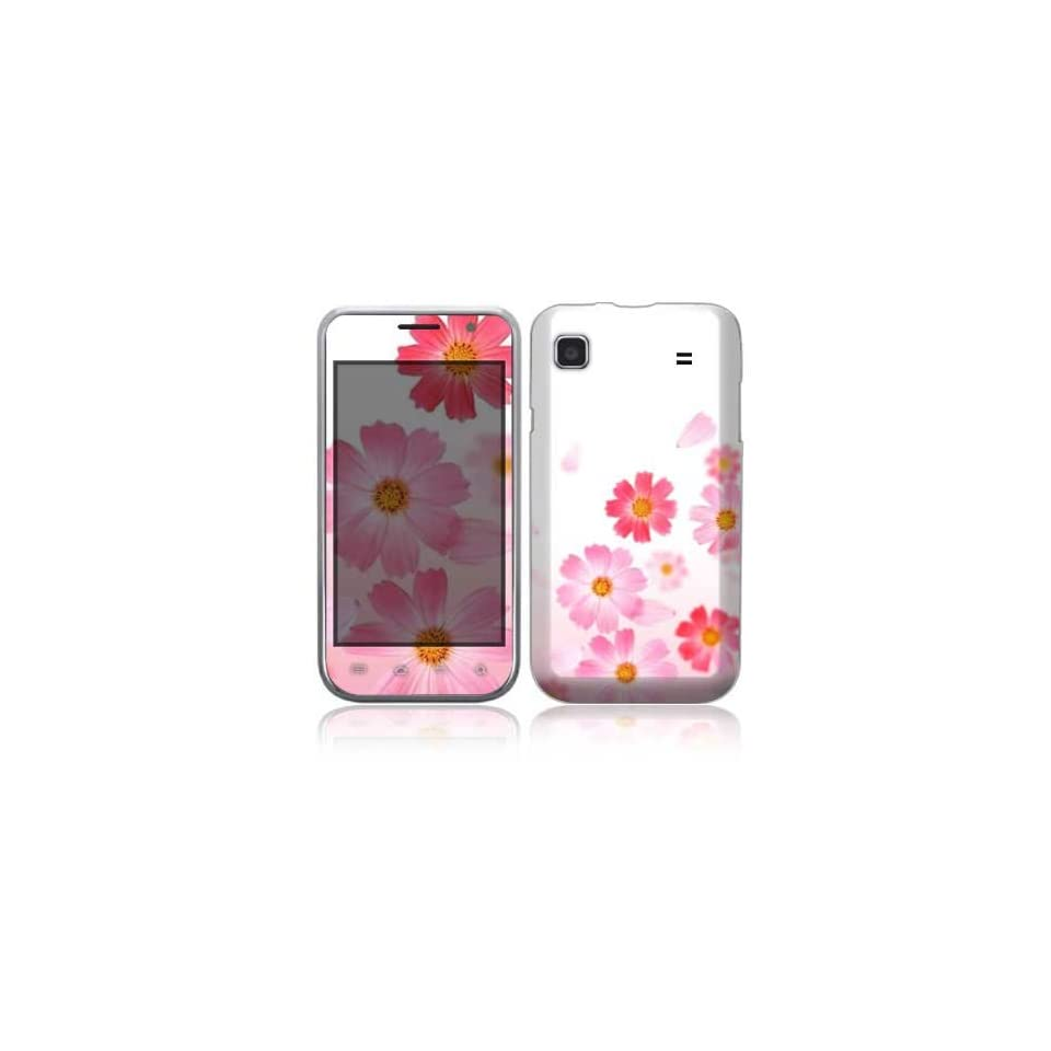 Pink Daisy Decorative Skin Cover Decal Sticker for Samsung Galaxy S 4G Cell Phone