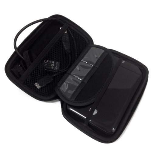 Hde Black 2.5 Inch Portable Hard Drive Protective Carrying Case W/ Memory Card Slots