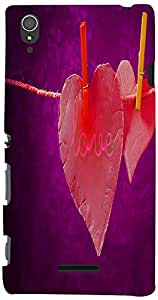 Printvisa Love 3D-Sxpt3-D7828 Case Cover For Sony Xperia T3