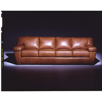 Prescott Leather Sofa Color: Dream - Celery