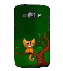 EPICCASE smiling cat Mobile Back Case Cover For Samsung Galaxy J1 (Designer Case)