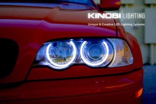 New Bmw E46 3-Series White 7000K Led Halo Rings Angel Eyes Xenon Kit