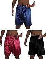 (Pack of 3) Mens Sleepwear - Silk Couture Boxer Shorts / Pajama Shorts
