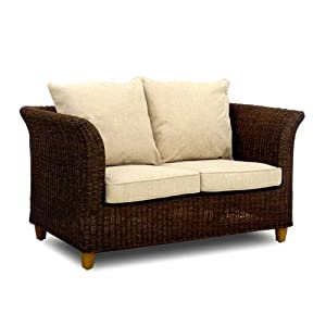 Wicker Sofa Conservatory Furniture Rattan Sofas Couch Brown Bude