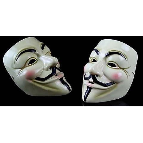 V for Vendetta Mask / アノニマス/ガイ・フォークス 仮面 マスク pvc イエロー クリーム