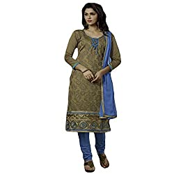 Typify Women's Chanderi Unstitched Dress Material (TYPIFY229_Multicolor_Free Size)