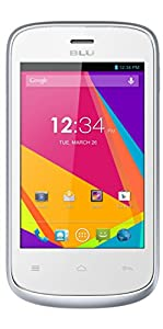 BLU Dash JR K, Android 4.4 KK, 2MP - Unlocked (White)