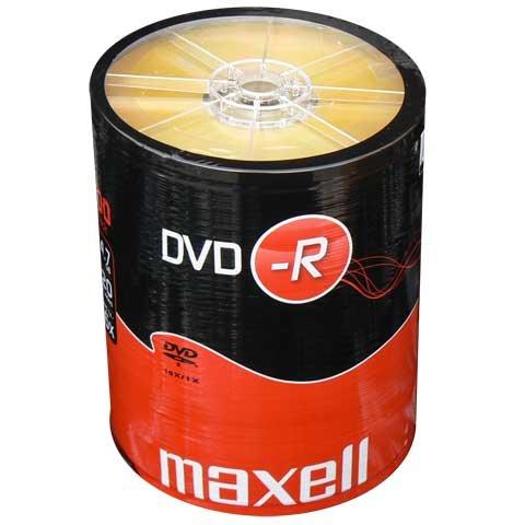 100 MAXELL DVD-R BLANK DISCS RECORDABLE DVD 16x 4.7GB 120mins