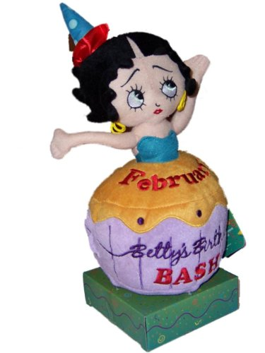 Sugar Loaf Betty Boop February Birthday Bash Plush Cupcake - 1
