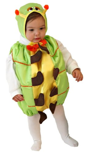Mullins Square Caterpillar Baby Costume, Lime - 6-18 Months
