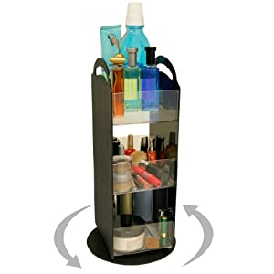 Amazon.com: Cosmetic Organizer spinner Only 8 Of Space With Clear Acrylic Shelves. Short On Space? This Is The Perfect Answer. A Very Cute Way To triple Your Storage! Proudly Made In The Usa! By Ppm.: Beauty